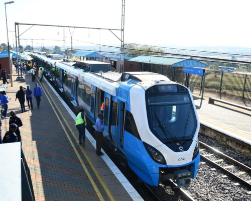 24/05/2016. The new Prasa trains that will be in operation by October took a couple of passenger from Bosnam Station to Kalafong Station.  Picture: Masi Losi    Picture: Masi Losi